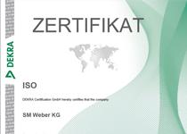 Zertifikat ISO 9001 -2015