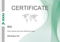 Certificate EN 9001:2015
